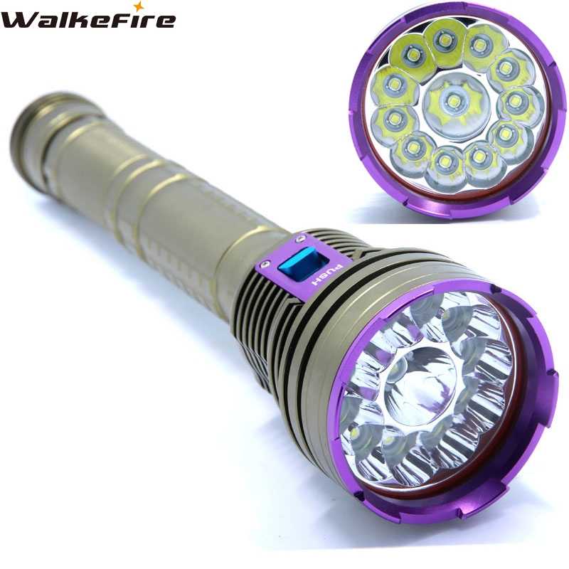 Погружения 30000lm 12 * XML T6 LED Водонепроницаемый 100 м Дайвинг фонарик