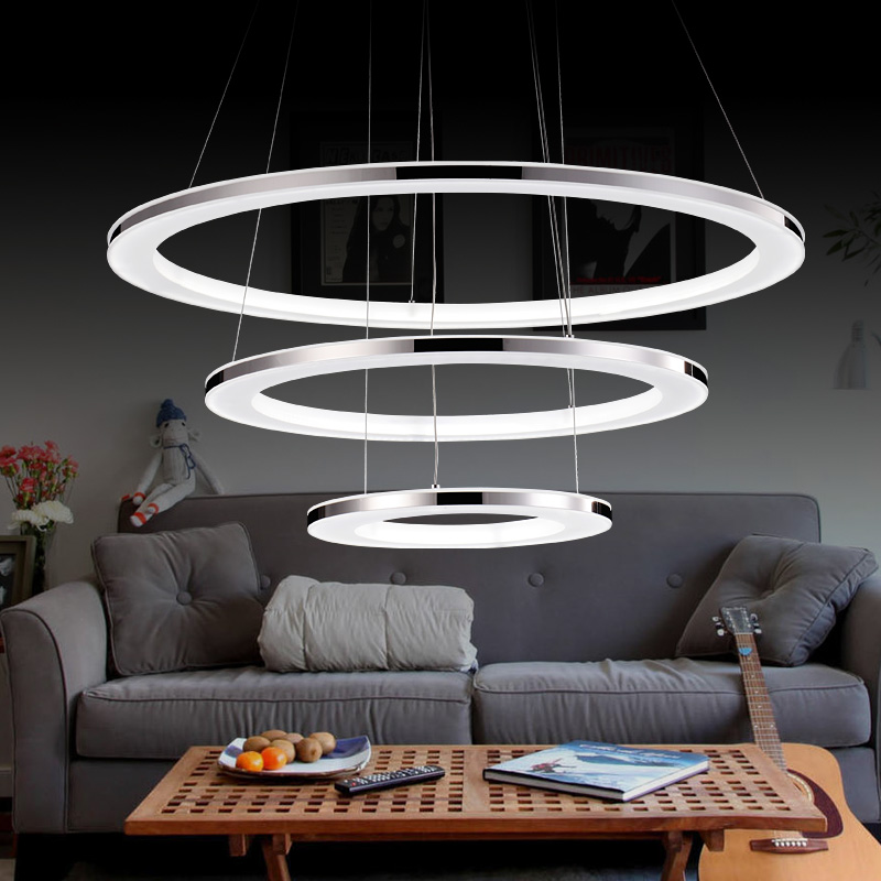 Modern Led Pendant Lights Lamparas Acrylic Chandelier Ceiling Lamp Luminaire Deco Restau ...