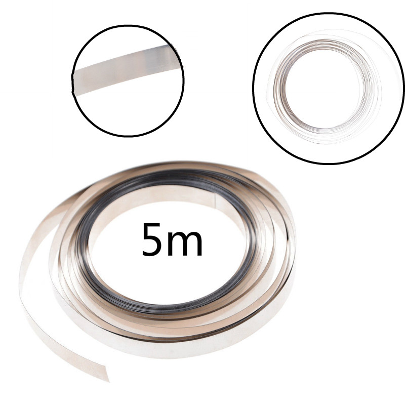 New 500cm 8mm X 0.1mm Pure Nickel Strip Tape For For 18650 AAA AA Battery Spot Welding Compatible For Spot Welder Machine