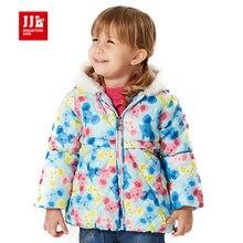 2015 новый детская одежда для девочек зимнее пальто thicking теплый верхняя одежда коала шаблон хлопка-ватник для младенца одежда