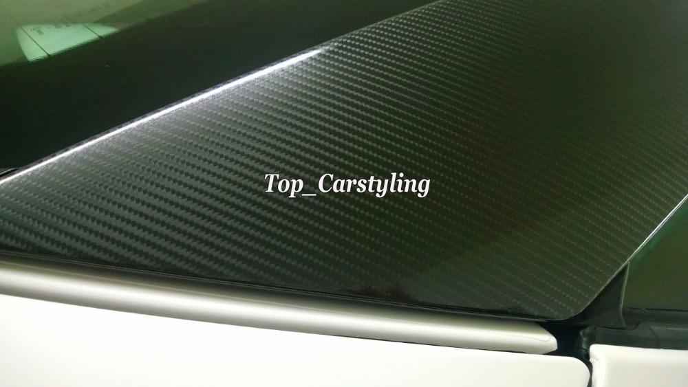 High Gloss 5D CARBON FIBRE VINYL 4D 3D CAR WRAPPING FILM SHEETS UNTRAL Shiny Carbon (1)