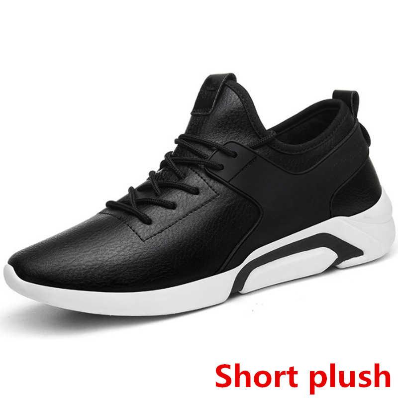 ผู้ชายฤดูหนาวรองเท้าบุรุษรองเท้ารองเท้าผ้าใบสีดำ designer รองเท้าผู้ชาย luxury ยี่ห้อ zapatos de hombre chaussure homme cuir