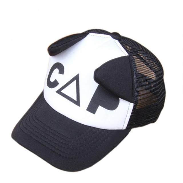 Tienda Online Niño blanco y negro gorra de béisbol del oído lindo ...