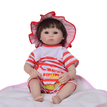 17inches 43CM silicone reborn baby doll doll  Reborn Bonecas realistic magnetic pacifier bebe doll reborn for girl Gift