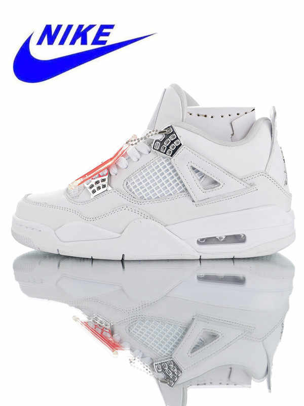 super popular 44b16 8c894 Original Nike Air Jordan 4 Retro Men s Sports Basketball Shoes,  Shock-absorbing Outdoor Sports