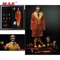 Collectible Full Set 1/6 Scale Figure Batman Joker Burger Junk Food Clown Action Figure With 2 Heads Model Toy for Fan Gift