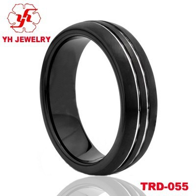Hot Sale Cheap Personalized Tungsten Rings Uk Black Tungsten Ring