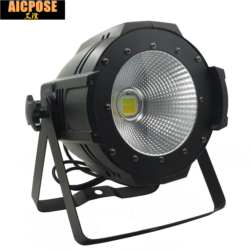 LED Par COB Light 100W High Power Aluminium DJ DMX Led Beam Wash Strobe Effect Stage Lighting,Cool White and Warm White freeshipping 4pcs dmx 100w cob warm yellow warm white led dj par light 100 wart dmx512 control mater slave stage lighting effect
