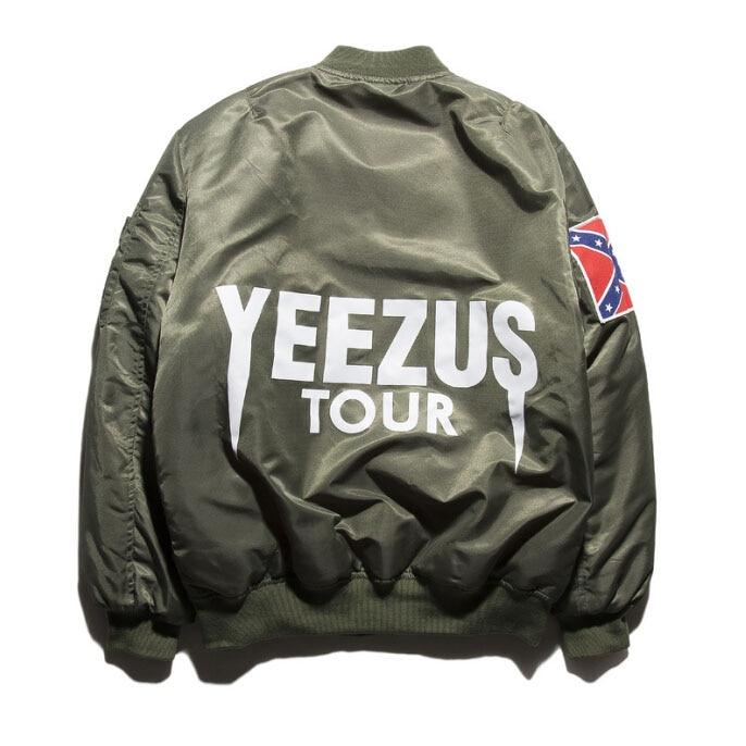 Yeezus tour bomber jacket flag