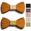 2016 do sexo feminino lazer bow tie bowtie designer de mariage mulheres gravata xadrez de madeira de madeira do casamento do homem papillon gravata masculina gravata