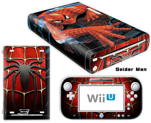 Image 5 - Mario Design Vinyl Skin Sticker For Wii U Console Cover with 2 Remotes Controller Skins For Nintend Decal Game Accessories
