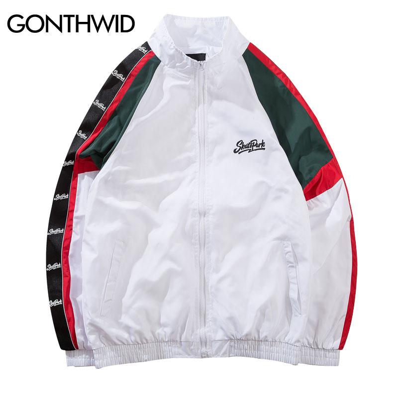 Enthusiastic Vintage Color Block Jacket Streetwear Windbreaker 2018 New Design Hip Hop Outwear Skateboard Jackets Zipper Korean Street Style Jackets Jackets & Coats