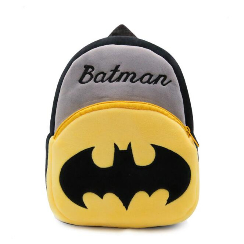 47b348e9907d Ninharuiie Cute Plush Cartoon Batman Backpack kindergarten Boy Character  Lovely Baby School Bag Gift For Kids and Children Gril