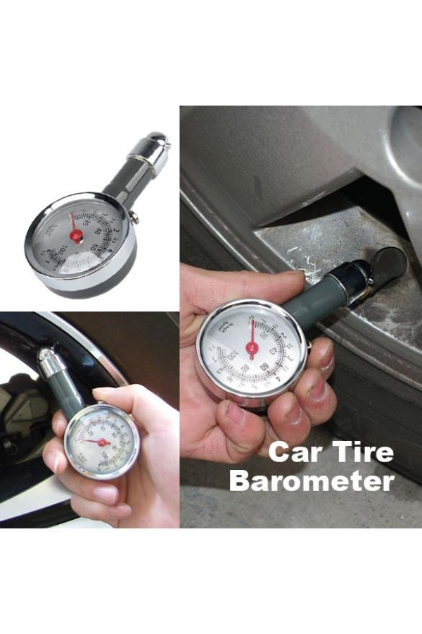 Car Auto Motor Truck Bike Tyre Tire Air Pressure Gauge Dial Meter Vehicle Tester Free Shipping