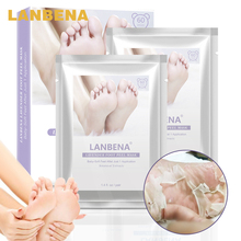 LANBENA Lavender Foot Peel Mask 2PCS Removal Dead Skin Foot Mask Suit Peeling Cuticles Heel Only need one pair Foot Care Mask