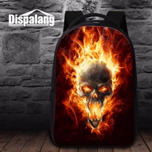 School Backpacks for College Skull printed Computer Bookbags Personalized Large Back Pack mens Day Pack Mochila