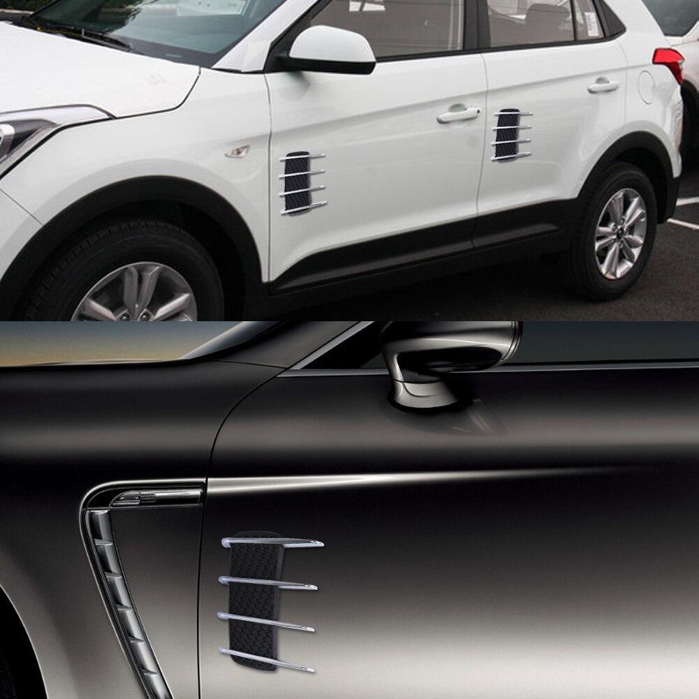 Акула жабры автомобилей 3D дефлектора воздушного потока Fender стикер автомобиля боковой двери наклейки автомобиль наклейки Скреста Защита автомобиля наклейки стайлинг
