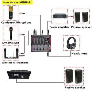 Image 5 - Freeboss MINI8 P 8 kanallı güç karıştırma konsolu amplifikatör Bluetooth kaydı 99 DSP etkisi 2x170W profesyonel USB ses mikseri