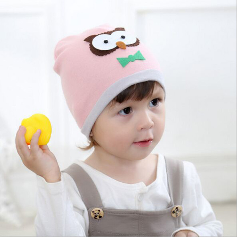 Lovely Fashion Baby Boy Casquette Cartoon Owl Style Hats Boys Girls Bonnet Casual Outdoor Gorras Caps Beanies