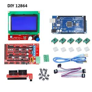 Image 5 - CNC 3D Drucker Kit für Arduino Mega 2560 R3 + RAMPEN 1,4 + LCD 2004 + A4988 Stepper Fahrer Motherboard 3d drucker arduino kit
