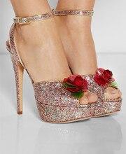 Alias Feminina Frauen Sandalen 2015 Party Schuhe Sandalen Handgemachte Dünne Fersen Offene spitze Neu Kommen Fashion Hochzeit