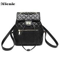 MTENLE Diamond Lattice Women Backpack Shoulder Bags Quilted Plaid Back Bag Lady Designer Leather School Backpack