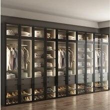 Wordable с светодиодный освещения/Платье шкаф для одежды с Стекло двери/на заказ оборудованная гардеробная