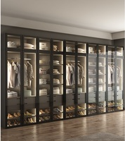 Wordable with LED Lighting / Dress Closet Armoire with Glass Door / Bespoke Fitted Dressing Room