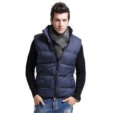 Winter Herren weste solide halten warme dicke weste nein sleeve größe S-XXL