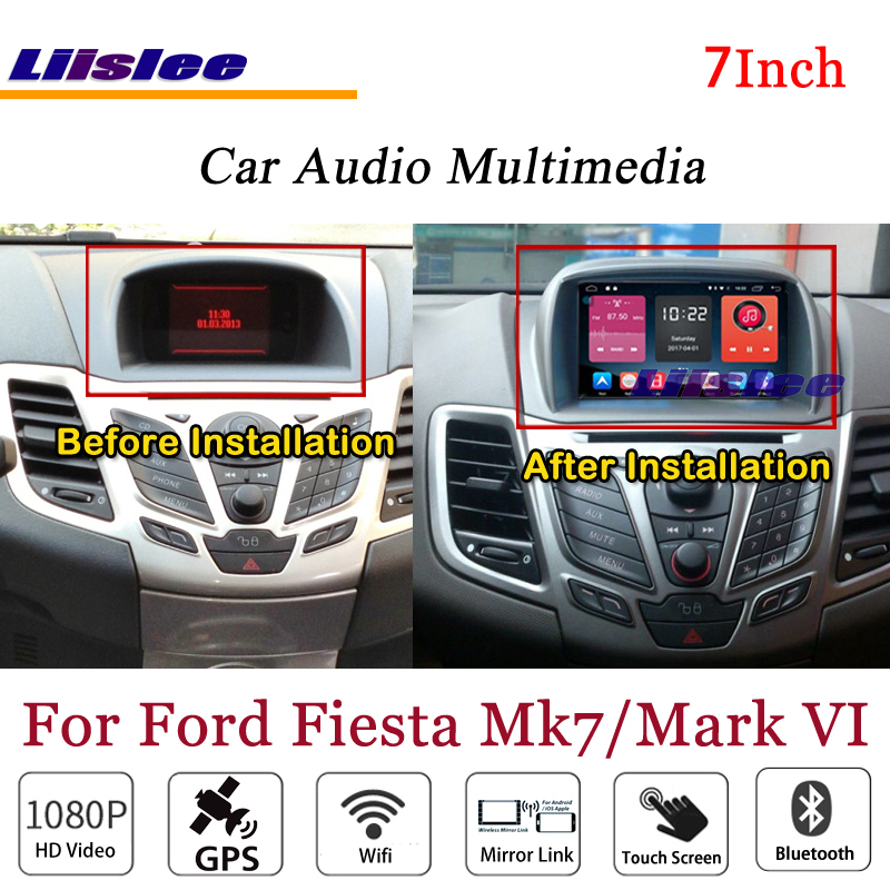 Lecteur DVD 3G Wifi BT GPS carte Navigation 1080 P système Original NAVI Design pour Ford Fiesta Mark VI stéréo Android Radio