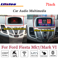 Liislee For Ford Fiesta Mark VI Stereo Android Radio DVD Player 3G Wifi BT GPS MAP Navigation 1080P System Original NAVI Design