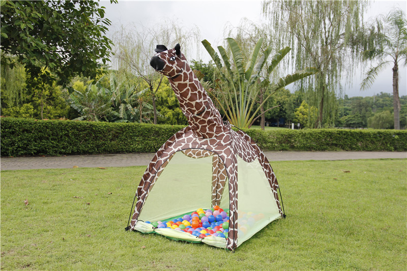 Zewik Kids Outdoor Tent Toy Play House Tent Giraffe House Tents Kids Adventure Station For children Christmas gift-in Playhouses from Home u0026 Garden on ... & Zewik Kids Outdoor Tent Toy Play House Tent Giraffe House Tents ...