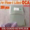 200 unids reparación de cristal del arreglo Para iphone6plus/6 splus OCA optical adhesive clear 250um freee Correos de hong kong/Paquete
