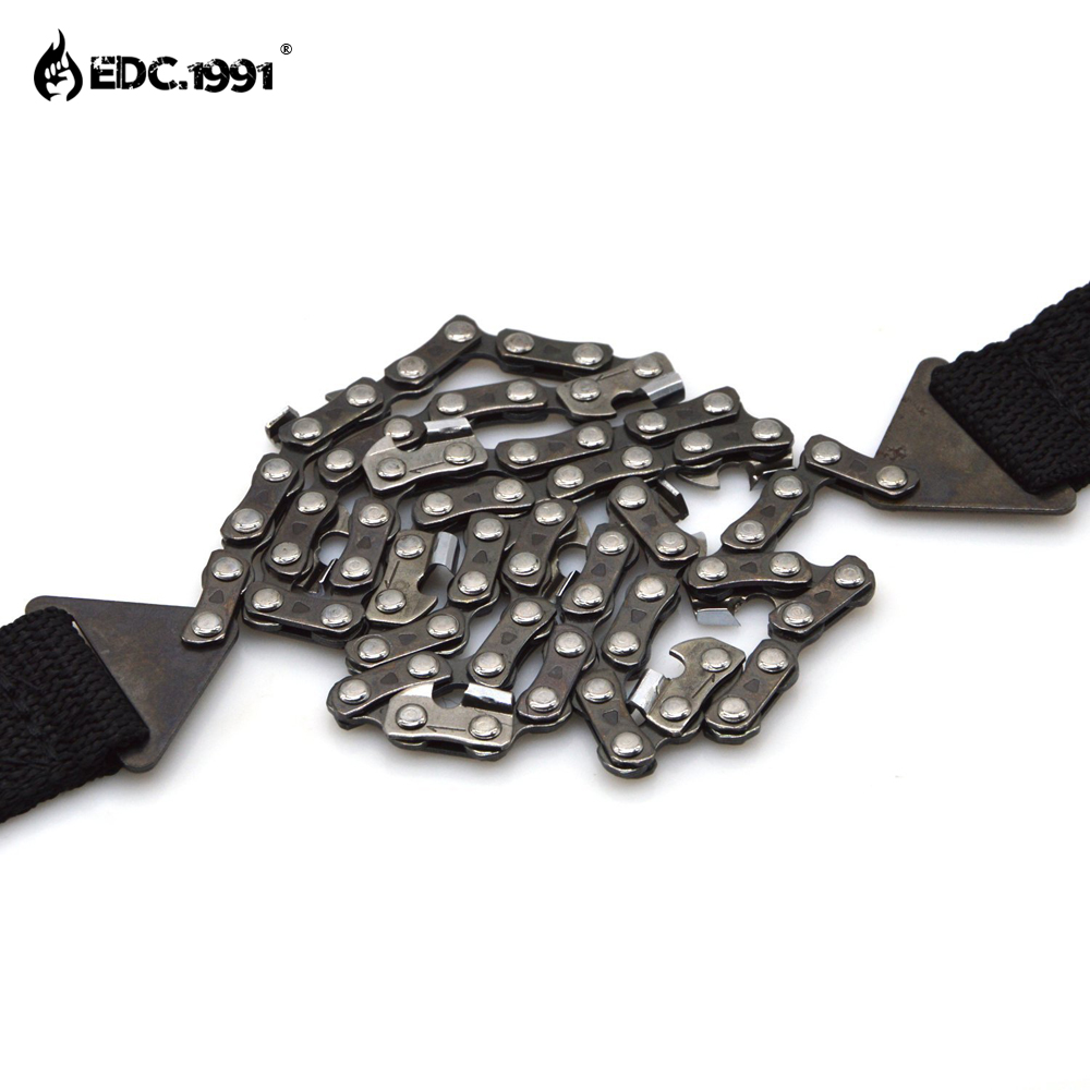 EDC 1991 Outdoor Survival Gear 65 Manganese Steel Hand Felling Saw Portable Hand Chain Wire Saw