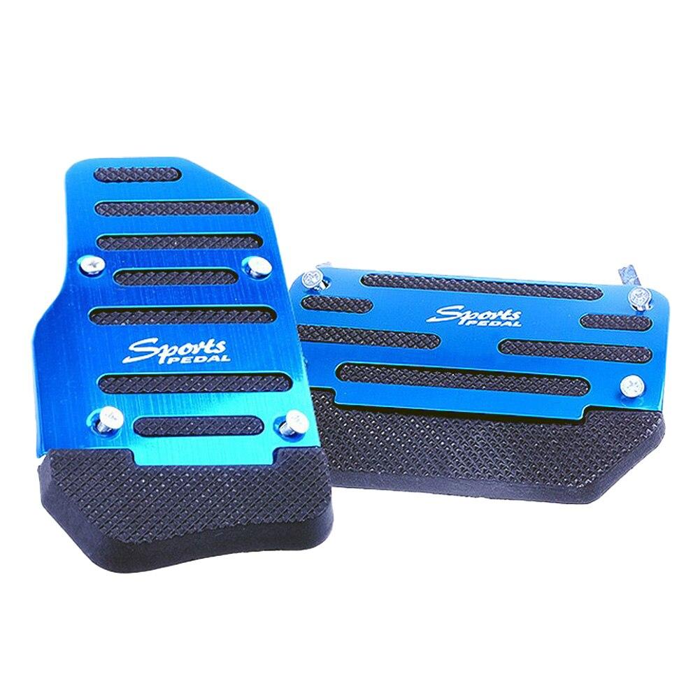 Акселераторная панель Крышка противоскользящая ПВХ доска Педаль крышка тормозного ускорителя - Название цвета: blue