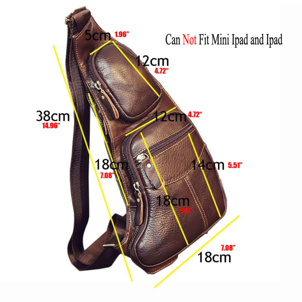Topdudes.com - Genuine Cowhide Leather Single Cross Body Vintage Messenger Bag