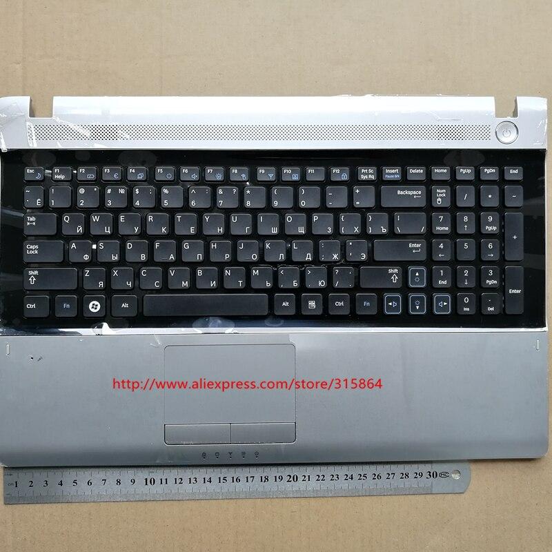 Russa RU teclado do laptop novo com descanso de mãos touchpad para samsung RV509 RV511 RV515 RV520 E3511 BA75-02862C