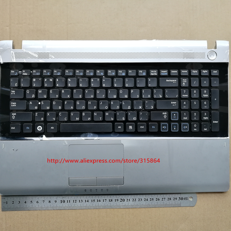Russian RU new laptop keyboard with touchpad palmrest for samsung RV509 RV511 RV515 RV520 E3511 BA75-02862C
