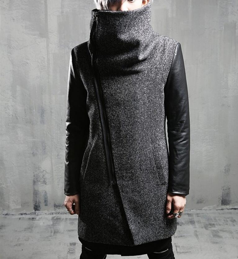 M --2Xl Hot Winter Men New Cultivate One'S Morality Fashion Cloth Dust Lapels Thickening Of Long Coat