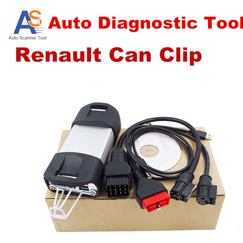 2017 Top Rated Professional Renault Car Clip Diagnostic Interface Auto Diagnostic Tool For Renault Clip Scanner