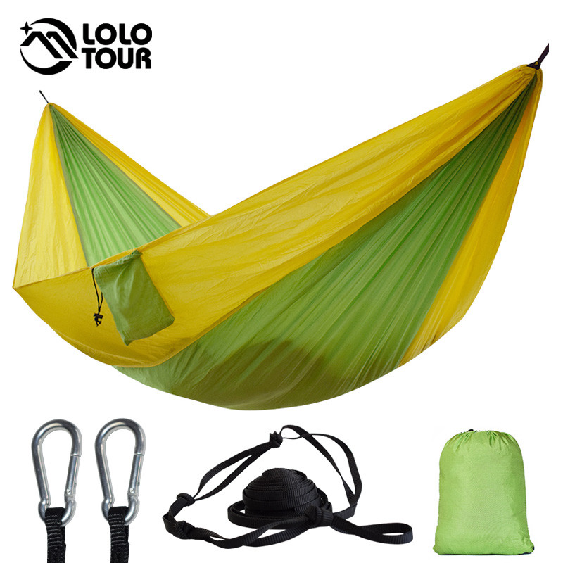 Double Outdoors Indoor Parachute Cloth Spanie Hamak Strong Camping Swing Leisure Flyknit Hamac Hamaca Hamak Garden Hangmat