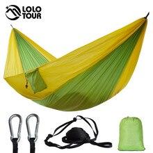 คู่กลางแจ้งในร่มผ้าร่มชูชีพSleeping Hammock Strong Camping Swing Leisure Flyknit Hamac Hamaca HamakสวนHangmat