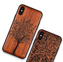 Apsudev Real Wood Case For Apple iphone X XS Max XR Wood+TPU Frame Phone Cover for 7 8 Plus Back