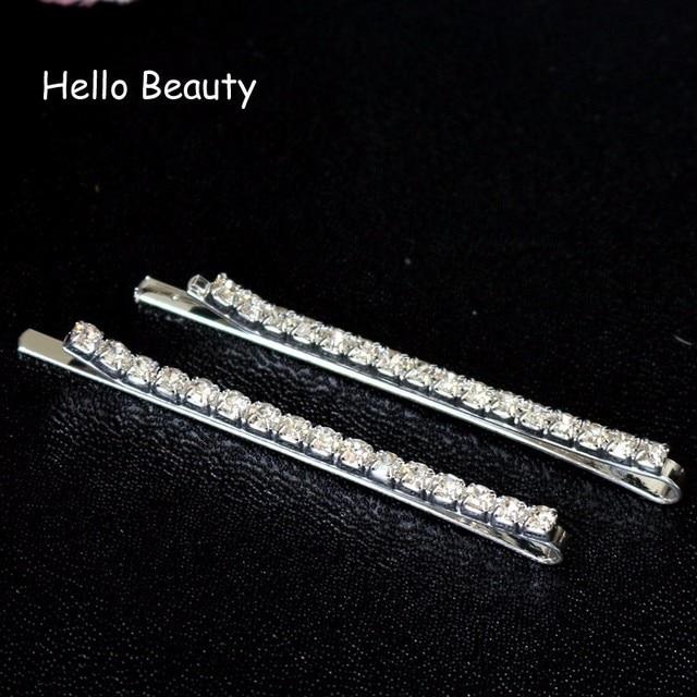 12 PCS Silver Color Korea Hair Accessories Crystal Fashion Stone Hair Clips  Rhinestone Hair Barrette For Women 4eedc7682f09