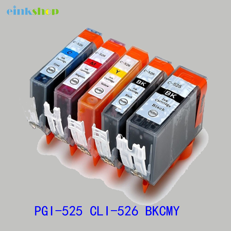 цена на For Canon PGI 525 CLI 526 Ink Cartridge For Canon PIXMA iP4850 iP4950 MG5150 MG5250 MG6150 MG8150 MX885 MG5350 pgi-525 cli-526