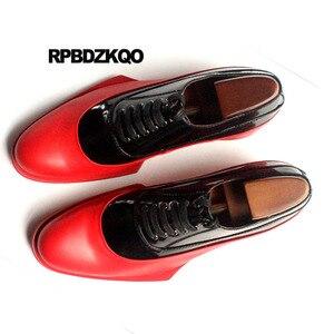Image 5 - Włochy włoski prawdziwej skóry Runway mężczyźni czarno białe buty sukienka wysokiej jakości skóra bydlęca marki oksfordzie Prom duży rozmiar europejski