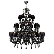Living Room Crystal Chandelier Black Crystal Lamp Hotel Large Crystal Chandeliers Modern Candle Chandelier Light Hanging Lamp