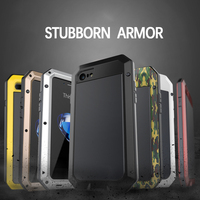 For IPhone 4 Metal Zinc Alloy Silicone Protective Water Dirt Shock Proof Luxury Doom Armor Life