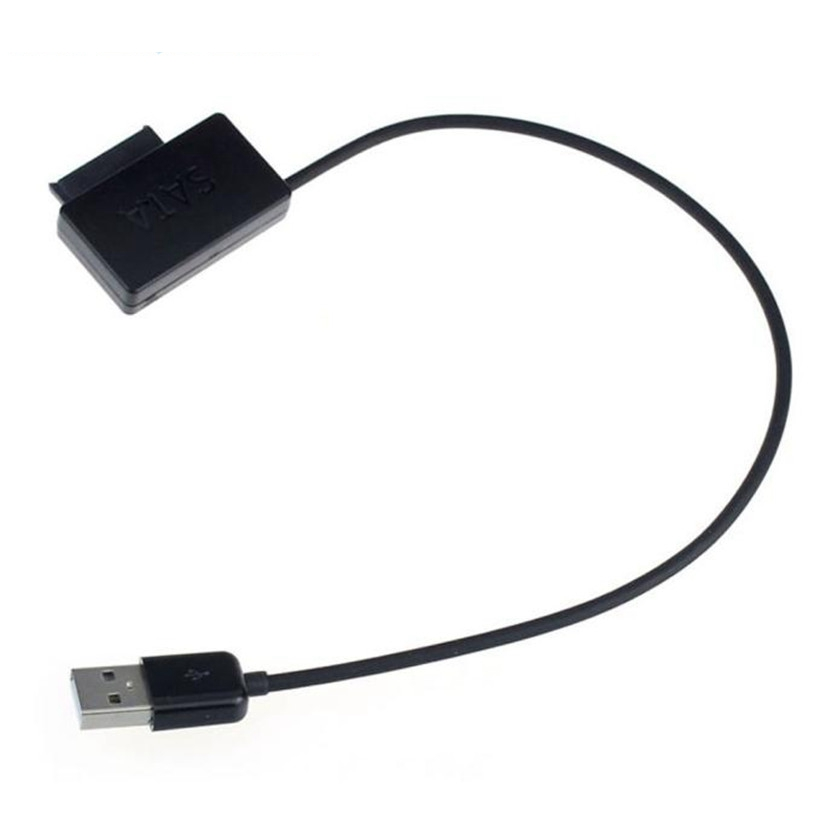 все цены на advanced Cable Laptop USB 2.0 to 7+6 13Pin Slimline SATA DVD CD Rom Optical Drive Cable 2017 1PC онлайн