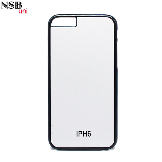 NSBuni Sublimation Blank 2D PC Hard Case For Apple IPHONE 6 6S DIY Heat